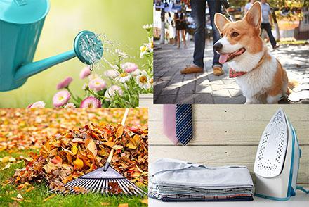 joustopalvelu espoo helsinki kukkien hoito pihan hoito koiran ulkoilu kävelytys vaatteiden silitys petivaate palvelut